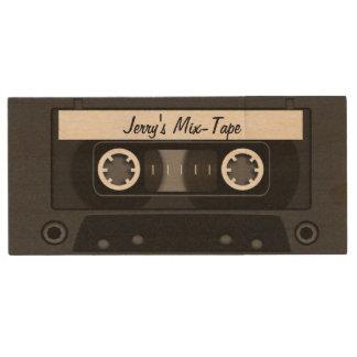 Negro personalizado cinta de la mezcla memoria USB 2.0 de madera