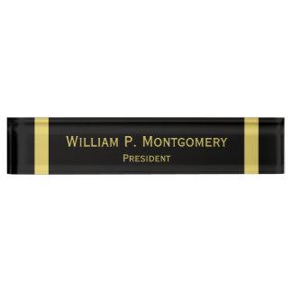 Negro personalizado de las placas de identificació