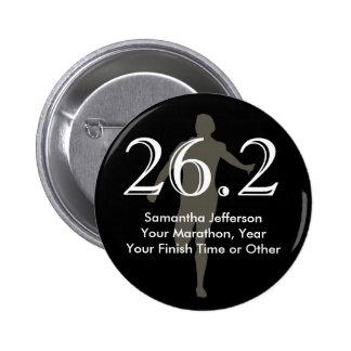 Negro personalizado del recuerdo del corredor de m pins