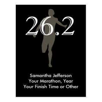Negro personalizado del recuerdo del corredor de tarjeta postal
