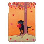 Negro personalizado Labrador del color del otoño iPad Mini Carcasa