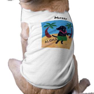 Negro personalizado Labrador (hawaiana) de la hawa Playera Sin Mangas Para Perro