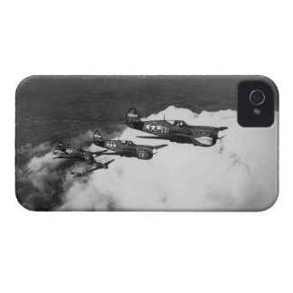 Negro Pilots in Shark-Nosed P-40 Fighter Aircraft iPhone 4 Case