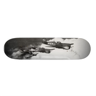 Negro Pilots in Shark-Nosed P-40 Fighter Aircraft Skateboard Deck