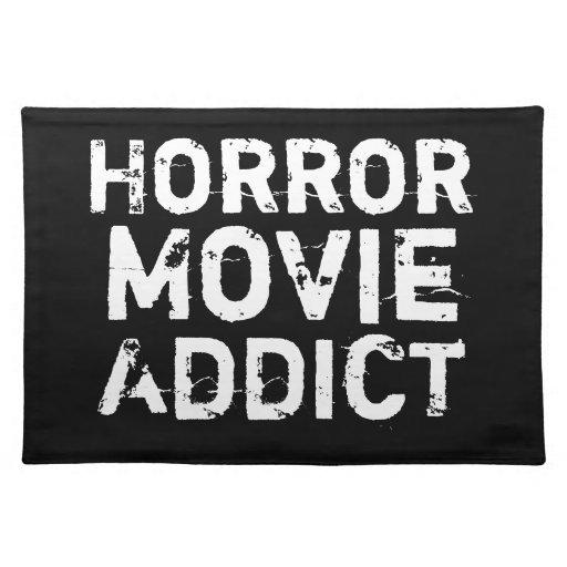 Negro Placemat del adicto a la película de terror Mantel