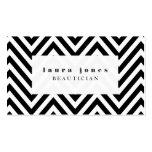 Negro + Plantilla blanca del estilista de la moda  Tarjetas De Visita