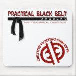 Negro práctico Belt/CFC Mousepad Tapete De Ratones