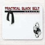 Negro práctico Belt/PFS Mousepad Alfombrilla De Raton