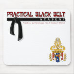 Negro práctico Belt/USMTA Mousepad Tapetes De Raton