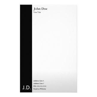 negro profesional/blanco papeleria de diseño