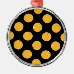 negro punteado del naranja ornamentos de reyes