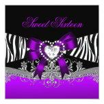 Negro púrpura de la cebra de la fiesta de comunicados personales