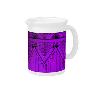 Negro púrpura de la lavanda del diseño del efecto jarra para bebida