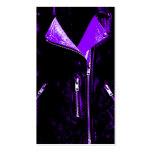 Negro púrpura de la tarjeta de visita de la chaque