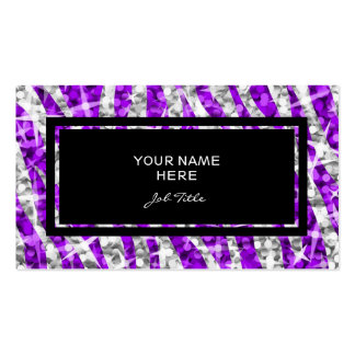 Negro púrpura de la tarjeta de visita del rectángu