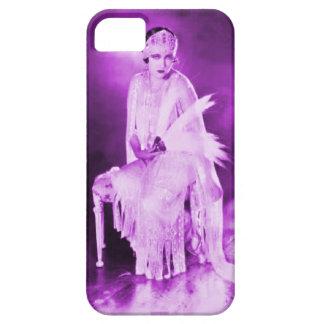 Negro púrpura del caso del iPhone 5 de la aleta de Funda Para iPhone SE/5/5s