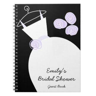 """Negro púrpura del cuaderno de la """"ducha nupcial"""" d"""