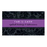Negro púrpura del flourish intrépido moderno de la tarjetas de visita