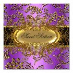 Negro púrpura del oro del damasco 16 del dulce comunicado
