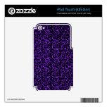 Negro púrpura floral del vintage iPod touch 4G skin