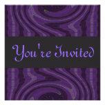 negro púrpura invitación