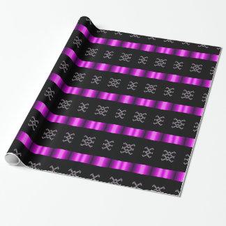 Negro púrpura negro del papel de envoltorio para