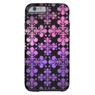Negro púrpura rosado funda para iPhone 6 tough