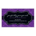 Negro púrpura violeta del flourish con clase de la