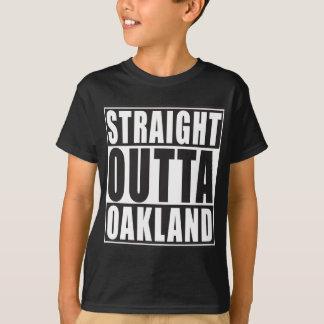Negro recto de Outta Oakland Poleras