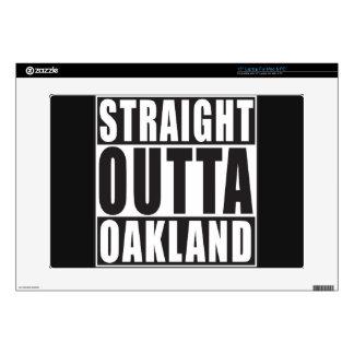 Negro recto de Outta Oakland Portátil Skin