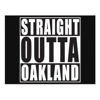 Negro recto de Outta Oakland Postales