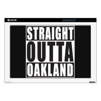 Negro recto de Outta Oakland Skins Para Portátiles