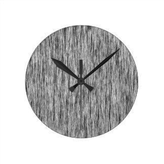 Negro-Rendir-Fibra-Modelo Reloj Redondo Mediano
