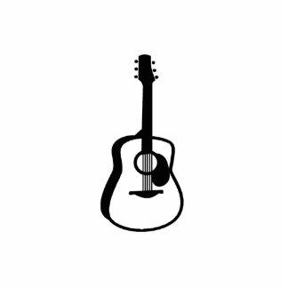 negro resumido del gráfico de la guitarra esculturas fotograficas