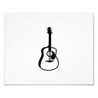 negro resumido del gráfico de la guitarra arte fotográfico
