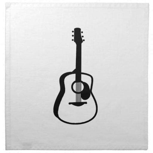negro resumido del gráfico de la guitarra servilletas imprimidas