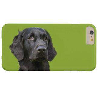 Negro revestido plano del perro del perro funda de iPhone 6 plus barely there