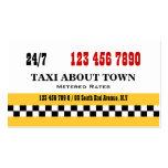 Negro rojo amarillo del taxi tarjeta de visita