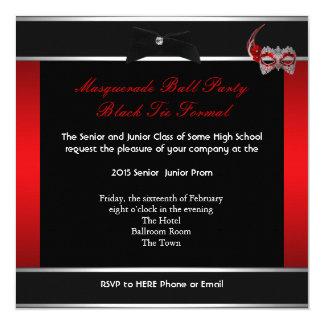 """Negro rojo de la danza de la High School Invitación 5.25"""" X 5.25"""""""