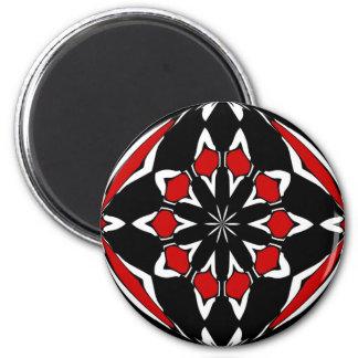 Negro rojo de la muestra del maleficio iman de nevera