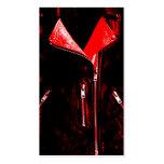 Negro rojo de la tarjeta de visita de la chaqueta
