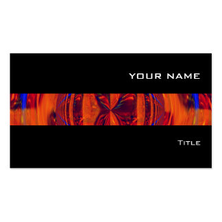 Negro rojo de la tarjeta de visita de la raya del