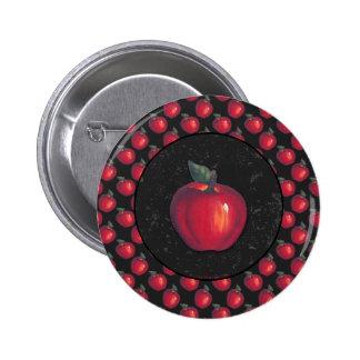 Negro rojo de las manzanas pin