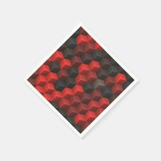 negro rojo de los cubos 7 artísticos (i) servilletas de papel