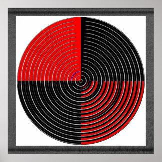Negro rojo de n - Chakra vivo asusta el mal de ojo Póster