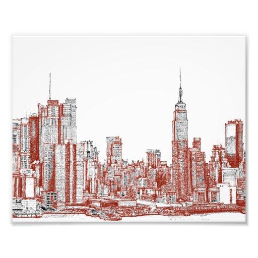 Negro rojo de Nueva York Fotos