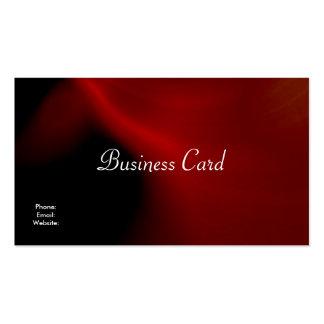 Negro rojo de seda del extracto de la tarjeta de tarjetas de visita
