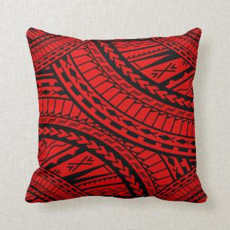 Negro rojo del arte azteca tribal cojines