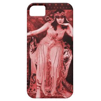 Negro rojo del caso del iPhone 5 de Theda Bara Funda Para iPhone SE/5/5s