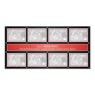 Negro rojo del collage del Año Nuevo de 2011 memor Tarjetas Personales